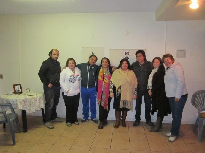 Rodrigo, Gloria, Alejandro, Nora, Ana María, Javier, Carolina, Patricia que buen y bello grupo