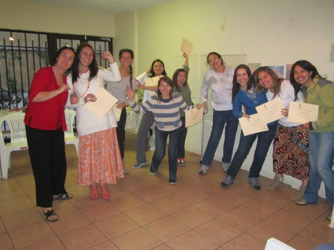 María Elena, Bernardita, Camila, Jocelyn, Bárbara, Lorena, María Teresa, Carolina, María Teresa de la Fuente y Alejandra