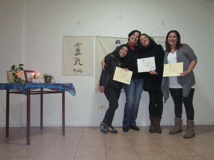 Gran equipo conformado por Tiare, María Elena, Carolina y Alejandra